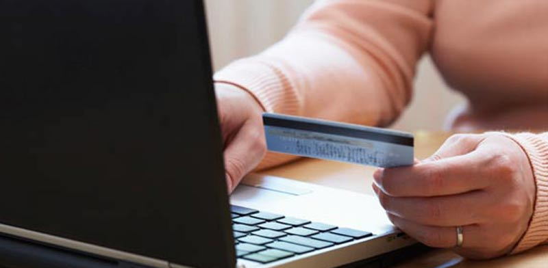 online shopping credit card